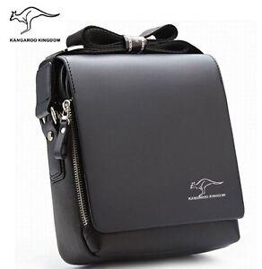 Kangaroo Kingdom Brand Men Leather Messenger Shoulder Bags Business Handbag M261