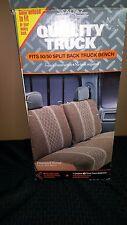 Vintage NOS Sagaz Bench Seat Cover Front Row 3-Piece Diamond Tweed Brown