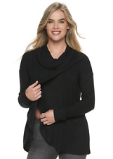New A:GLOW Maternity Nursing Black Top Shirt Sweater Knit Size XL 16-18 $50 NWT