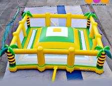 30x30x12 Commercial Inflatable Mountain Climbing Wipeout Game Bounce House Hill