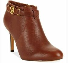 New Coach SALENE Cow Safari Leather Ankle Boot Bootie Shoe Heel Ginger Brown *10