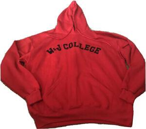 W&J College Hoodie Mens XL Red Washington Jefferson College NWT (A1)