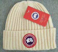 New Canada Goose Beanie Hat Unisex Cap White Medium
