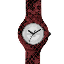 WOMEN'S WATCH HIP HOP LEATHER,RUBBER AND LEATHER SNAKESKIN + 2 STRAPS