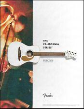 Fender California Series Malibu Player Acoustic Arctic Gold Guitar 8 x 11 ad