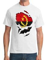 Angola Angolan Ripped Effect Under Shirt - Mens T-Shirt