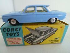 VINTAGE CORGI 229 CHEVROLET CORVAIR IN ORIGINAL BOX ISSUED 1961-66