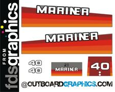 Mariner 40hp rainbow outboard engine decals/sticker kit