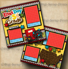 5TH GRADE ~ SCHOOL ~ 2 premade scrapbook pages layout printed boy girl DIGISCRAP