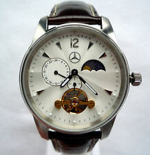 Mercedes Benz Classic Business Dual Time Zone Design Elegant GMT Automatic Watch