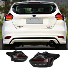 For Ford Focus Hatchback Tail Light Assembly 2015-2018 Smoke Color LED Rear Lamp