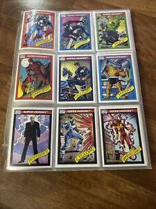 Complete 1990 Marvel Trading Card Set(1-162) & 1-5 Holograms