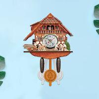 Cuckoo Cuckoo Wall Clock Chime Alarm Clock Retro Clock Wooden Living Room Clock