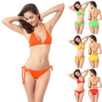 Womens Sexy Bandage Halter Bikini Set Swimwear Swimsuit Bathing Beach Suit