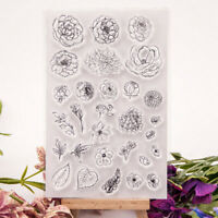 flower transparent clear silicone stamp for diy scrapbooking photo decoratiFBES