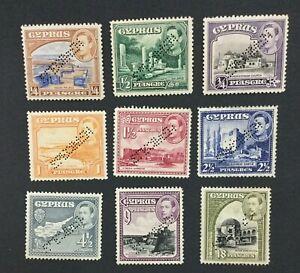 MOMEN: CYPRUS SG #151s/160s SPECIMEN MINT OG H LOT #191796-343