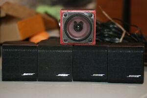 Bose Life Style Speakers Acoustamass Red Line(5 of them) with factory cords