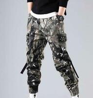 Men's Cargo Camouflage Harem Pants Loose Casual Hiphop Korean Pants Ankle Banded