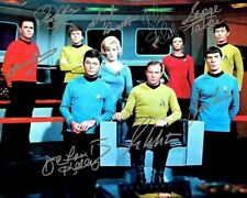 Star Trek Ship William Shatner Leonard Nimoy Cast Signed Photo Autograph Reprint