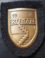 ✚7762✚ German army post WW2 1957 pattern KUBAN shield 1943 with backing ST&L