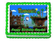 Terraria party decoration edible cake topper frosting sheet