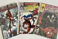 AMAZING SPIDER-MAN #316, 361, Ultimate Fallout 4 1ST CARNAGE, Venom Cover& Miles