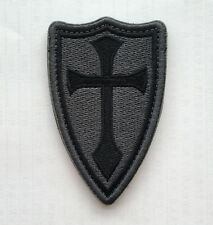 CROSS CRUSADER SHIELD NAVY SEAL DEVGRU ARMY TACTICAL BADGE Embroidery PATCH s966