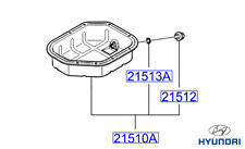 Genuine Hyundai Trajet Lower Sump Pan - 2151038052