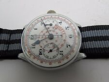 VINTAGE HEUER CHRONOGRAPH MILITARY STYLE  MANUAL WIND  VALJOUX MEN WATCH