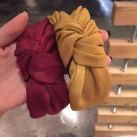 Ladie's Cross Knot Fabric Headband Wide Hairband Headwear Hair Accessories