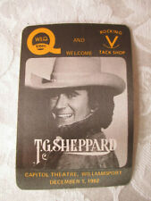 T.G. SHEPPARD - 1982 TOUR - ALL ACCESS BACKSTAGE PASS