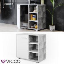 VICCO Waschbeckenunterschrank PERRY Weiß Beton Waschtisch Unterschrank