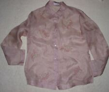 Womens Marks & Spencer Autograph Dull Pink See Through  Blouse  Size 12