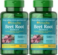 2X Beet Root Extract 500mg x 90 (180) Rapid Release Capsules - 24HR DISPATCH