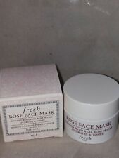 NEW FRESH ROSE FACE MASK, TRAVEL SIZE, 0.5OZ/15ML, NO BOX