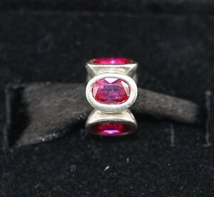 NEW Authentic PANDORA Sterling Silver Ruby Red Oval Lights 790311SRU Charm