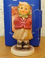 "Hummel Figurine ""Clear As A Bell"" Hum #2181 Tm8 Kinder Choir Goebel Mib S579"
