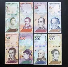 Lot 8 BILLETS  DE BANQUE VENEZUELA  2- 500 BOLIVARES 2018    NEUF UNC