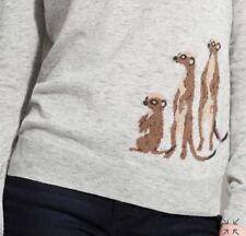 106. Rare Madewell Meerkat Intarsia Sweater Xs Gray Flawless