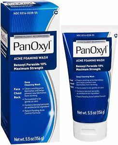PanOxyl Acne Foaming Wash Benzoyl Peroxide 10% 5.5oz