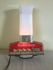 Vintage Budweiser Clydesdales Team & Wagon Lighted Sign