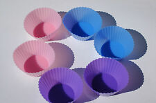 6 x Silicone Round Cake Cupcake Mold Case Muffin Cookie Baking Mould Cook