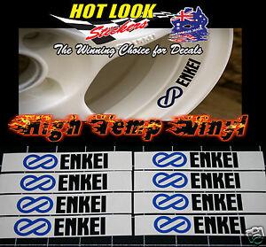 8 ENKEI WHEEL RIM Stickers 73mm X 16mm Decals JDM EDM Cars All Colour Combos