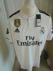 REAL MADRID UCL  HOME SHIRT 2018-19 BNWT SIZE XLARGE