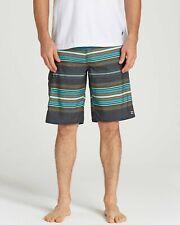 Billabong Mens All Day OG Stripe Boardshorts Charcoal 32 New
