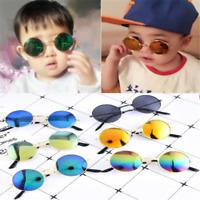 Children Kids Handsome Retro Metal Frame Sunglasses Outdoor Riding Sunglasses