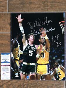 Kareem & Bill Walton Signed Autographed 16X20 Celtics vs. Lakers JSA Beckett Coa
