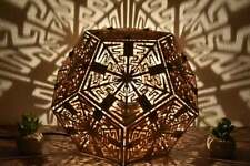 Dodecahedron | Geometric Lighting, Wood Desk Lamp, Shadow Lights