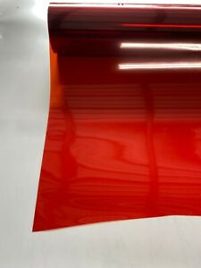 "RED NON REFLECTIVE TINT FILM FERRARI SHADE!! OTHER COLORS AVAILABLE! 20""X10 FEET"