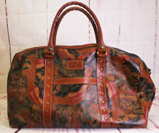 PATRICIA NASH Wonderful Milano WKNDR LEATHER Duffel Bag VINTAGE Patch NEVER USED